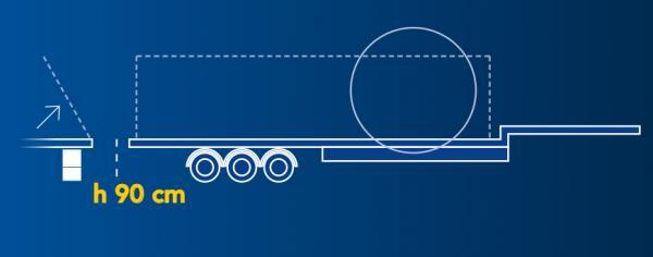 Cavalletta Idraulica | Lunghezza piano di carico: 7,00Mt. | Allungabile a 9,00Mt | Carico utile: Max 24 Ton.